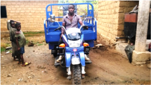 Tricycle Donated to Besali Community in Lebialem-SW Cameroon to Boost Palm Oil Production